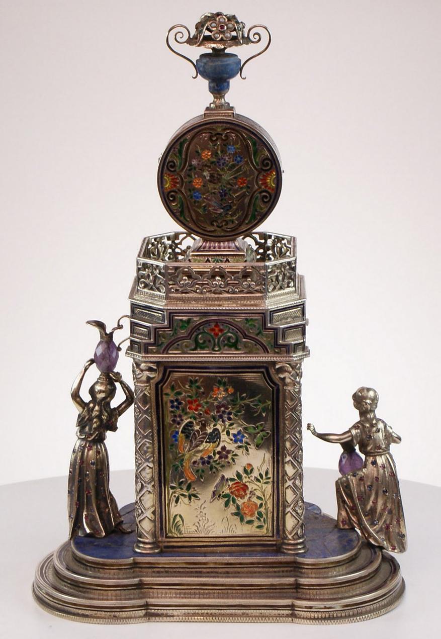 Large gem set Vienna clock